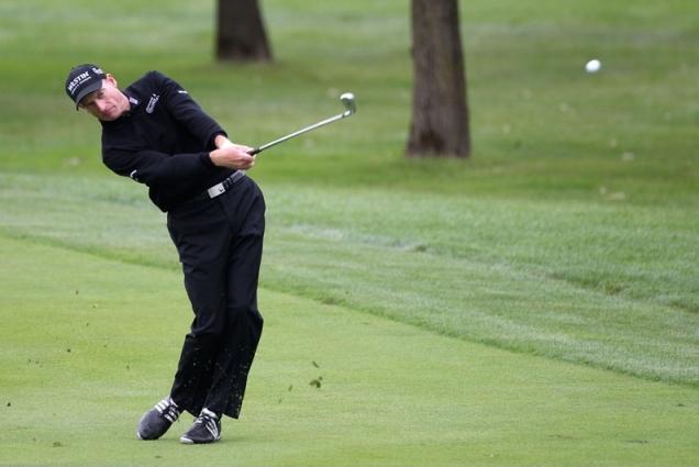 Perfect golfing impact