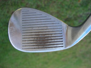 This is what predictable distance looks like in an old, worn-out wedge.